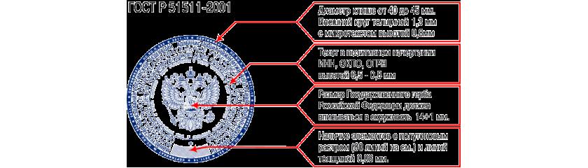 Изготовление гербовой печати государственного бюджетного учреждения